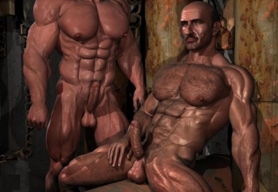 black dick gay hung man